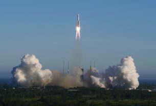 china-launches-spacecraft-via-largest-carrier-rocket:-cctv