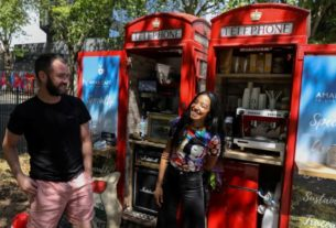 caffeine-calling:-london-phone-boxes-serve-up-coffee-after-lockdown