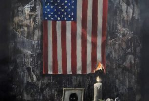 britain's-banksy-depicts-us.-flag-on-fire-in-floyd-tribute