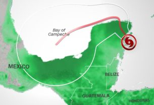 tropical-storm-gamma-makes-landfall-near-tulum,-mexico;-hurricane-warning-issued