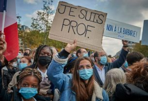 samuel-paty-beheading:-teacher's-slaying-spurs-protests-across-france
