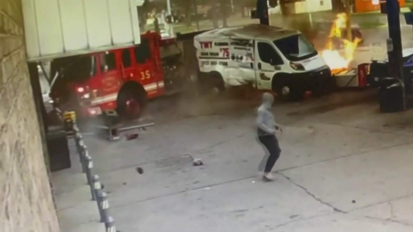 fire-truck-hit-by-suv,-crashes-into-gas-station