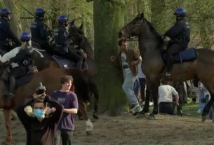 see-police-break-up-april-fools-prank-party-with-horses-and-water-cannons