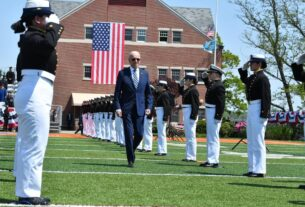 biden-singles-out-competition-with-russia-and-china-in-coast-guard-commencement