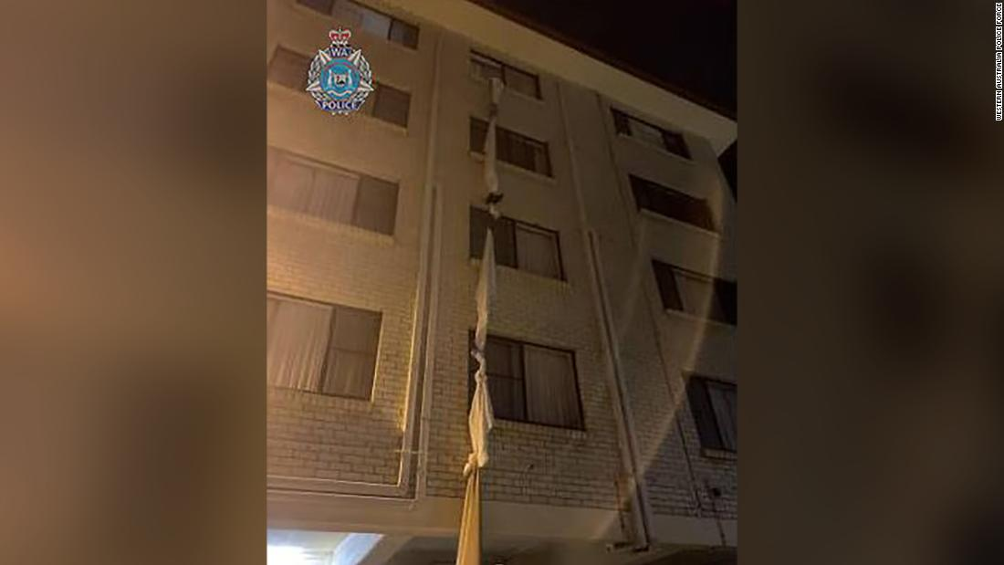 man-escapes-hotel-quarantine-by-tying-bed-sheets-together